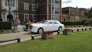 Our Rolls Royce Phantom hire at venue 1