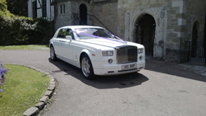 Our Rolls Royce Phantom hire at Venue 5