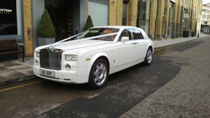Our Rolls Royce Phantom hire at Venue 9